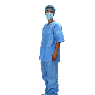 Disposable non woven patient suit